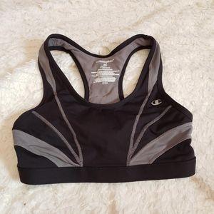 NWOT Champion Sports Bra Black & Gray Vented Sm